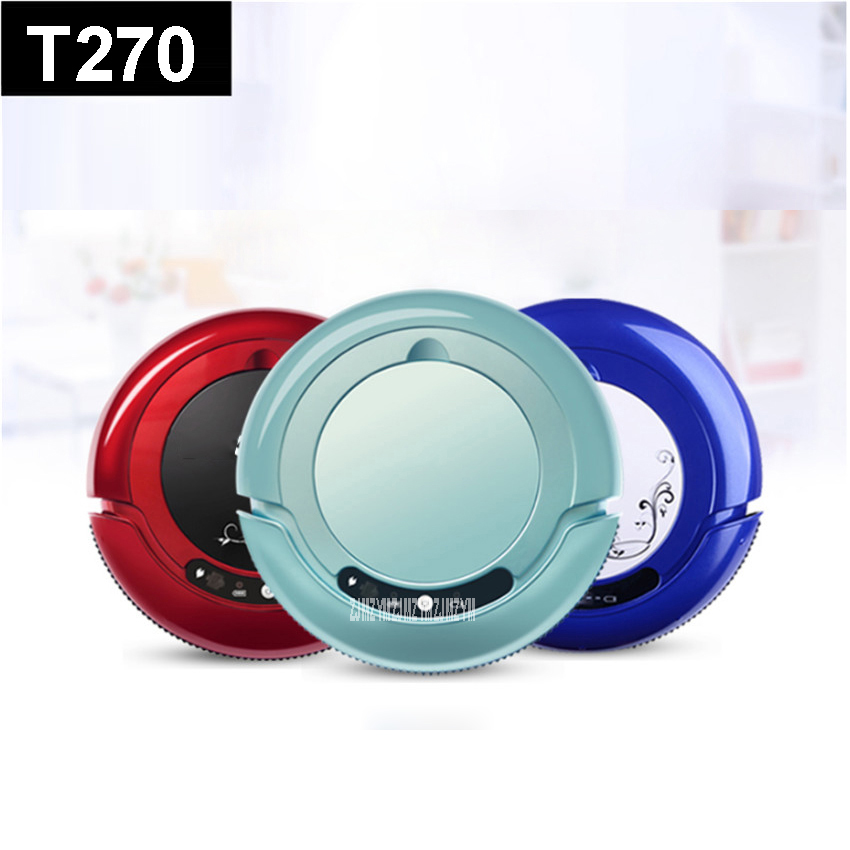 T270 110-220V Mini Robot Vacuum Cleaner for Home Automatic Sweeping Dust Sterilize Smart Planned Mobile App 800mah Battery cen546 110 220v mini robot vacuum cleaner for home automatic sweeping dust sterilize smart planned mobile app 0 3l dust box