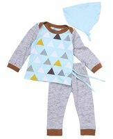 Kid 3pcs Suit 2016 Wholesale Baby Boy Girl Clothes Tops Long Pant Hat Outfits Set Tracksuit
