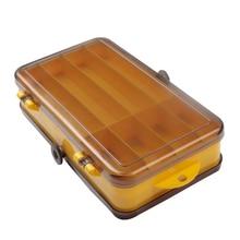 LUSHAZER коробка для рыболовных снастей пластиковая водонепроницаемая рыболовная приманка рыболовная коробка для рыболовных насадок 12 отсеков двойной слой