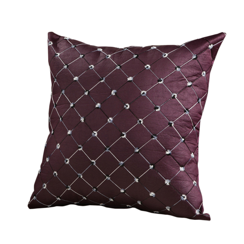 New decorative throw pillows cover for home decor sofa seat back cushion covers color red purple black 43x43cm