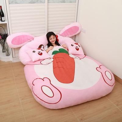 Gifts for children Cartoon Rabbit Cartoon mattress, cushion, lovely and comfortable size of Queen Full mattress
