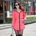 Cheap wholesale 2017 Autumn Winter Down Cotton Fashion Women's Coat female medium-long thickening waterproof slim Casual Jacket