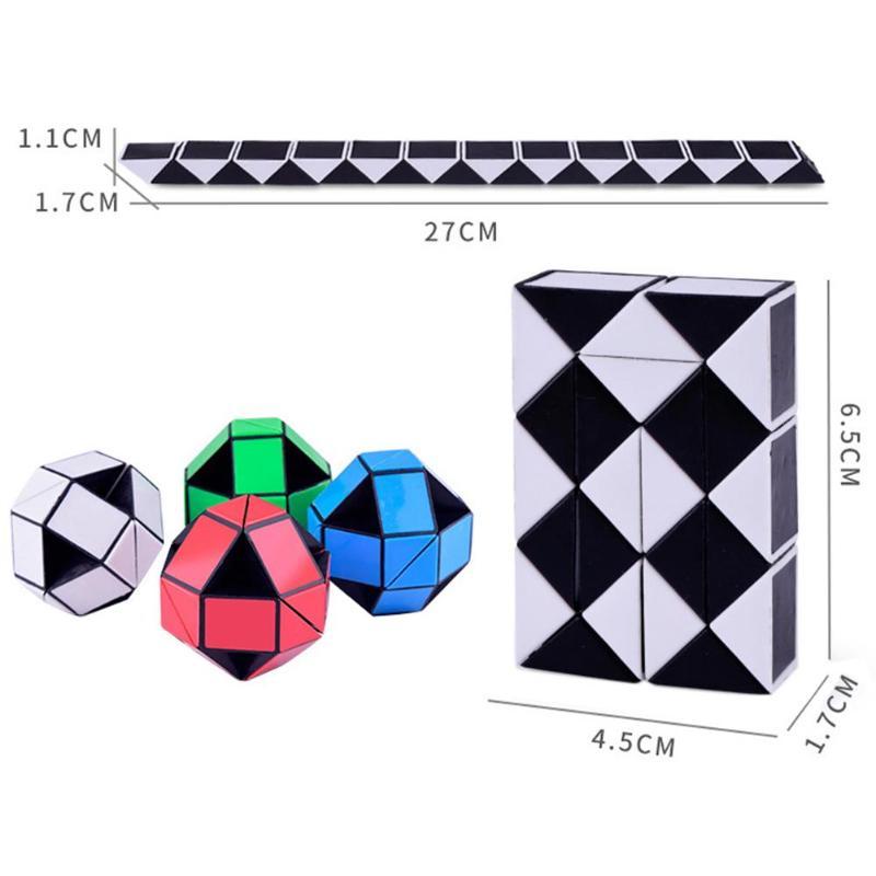 Toys & Hobbies Beautiful 24 Blocks Snake Magic Cube Twist Jigsaw Puzzle Speed Magic Ruler Twist Puzzle Iq Logic Brain Teaser Game Toy Magico Puzzles Game