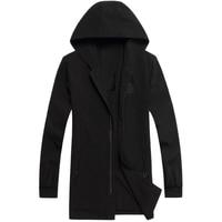 Plus Size 6XL 7XL 8XL Brand Clothing Male Fashion Casual Windbreak Varsity Hoodie Jacket Spring Autumn