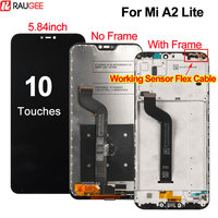 Screen For Xiaomi Mi A2 Lite LCD Display Touch Screen with Frame New Digitizer Panel Replacement For Xiaomi Mi A2 Lite Display