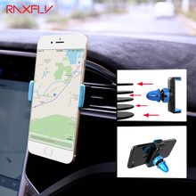 RAXFLY Car Air Vent Phone Holder Universal 360 Degree Rotation GPS Navigation Holders Bracket For iPhone Samsung Accessories