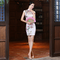 Hot Sale Women Cheongsam Chinese Traditional Silk Qipao For Women Eastern Style Evening Dress Female Daily Cheongsams In Spring