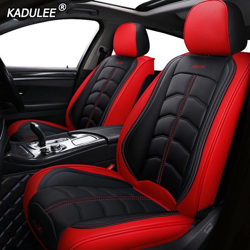KADULEE Luxury Leather Car Seat Covers For Land Rover Discovery Sport Freelander Range Sport Evoque Defender Auto Accessorie