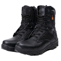 High Quality Men Tactical Police Military Army Boots With Zipper Snow Shoe 2015 New Free Shipping
