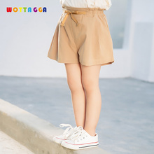 WOTTAGGA 2019 Summer Thin children Wear Shorts Boy Baby and Girl Pants Solid Color Cotton Children's Leisure Pants boy shorts summer cotton thin section pants children s baby shorts boys and girls wear korean casual hot pants tide free