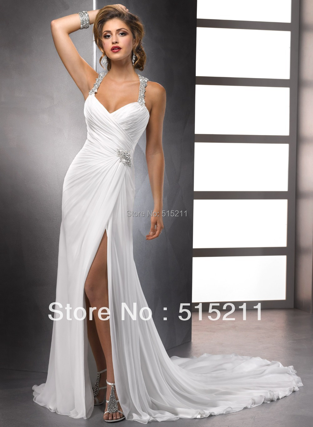 Online Get Cheap Halter Top Beach Wedding Dresses -Aliexpress.com ...