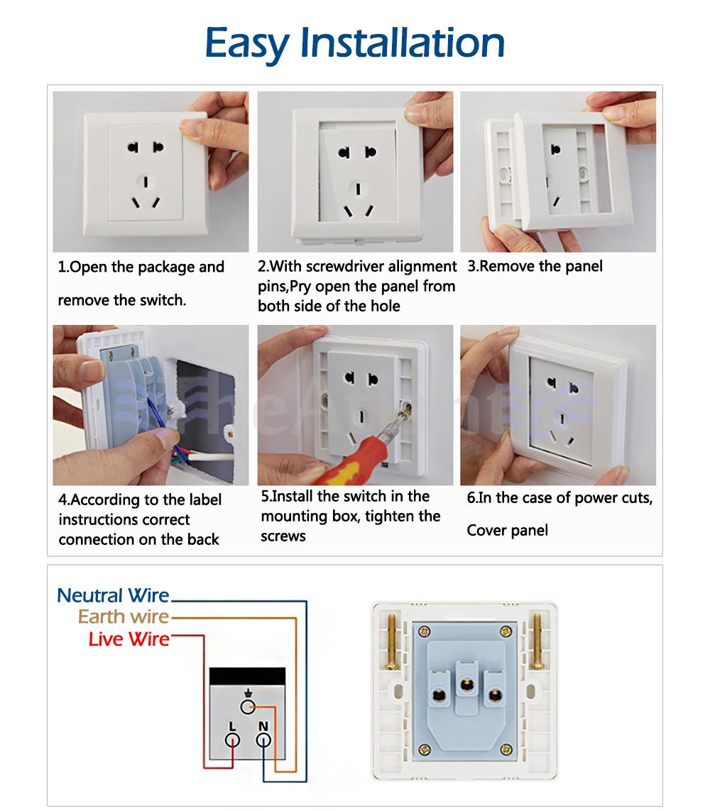 2 Gang 2 Way Wall Light Switch Random Click Push Button 2 Gang 2 Way ...