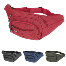 Fashion  Pure Color Waist Bags Unisex Outdoor Fanny Pack Female Belt Bag Chain Geometric Packs Laser Chest 626