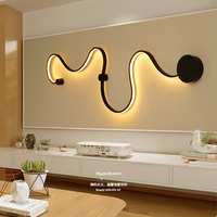 Simple creative wall lamps with white or black color for bedroom decoration Nordic designer Hall corridor hotel
