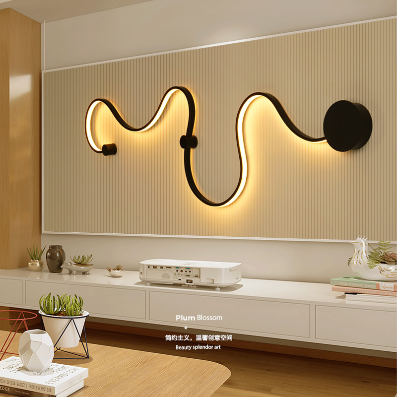 Simple creative wall lamps with white or black color for bedroom decoration Nordic designer Hall corridor hotelSimple creative wall lamps with white or black color for bedroom decoration Nordic designer Hall corridor hotel