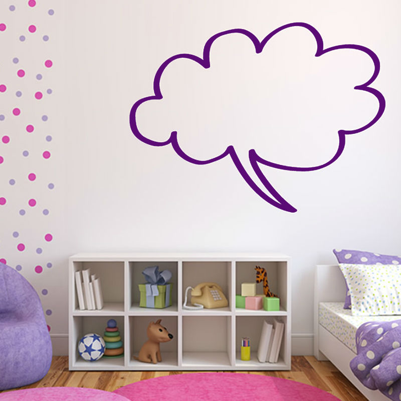 cloud shape speech bubble wall sticker decorative children bedroom wall simple design home decor vinyl hollow out decal - Simple Shapes Wall Design