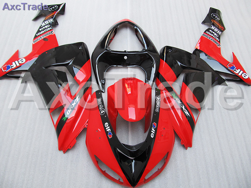 High Quality ABS Plastic For Kawasaki Ninja ZX10R ZX-10R 2006 2007 06 07 Moto Custom Made Motorcycle Fairing Kit Bodywork Red black moto fairing kit for kawasaki ninja zx14r zx 14r zz r1400 zzr1400 2006 2007 2008 2009 2010 2011 fairings custom made c549