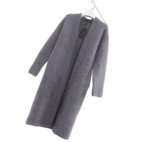 Mink Cashmere Coat Natural Real Mink Cashmere Cardigan Coat Women Cardigans Knit Long Sweater tsr570