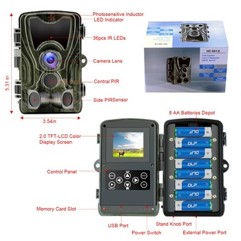 Goujxcy HC801 Hunting Camera 20MP Trail Camera Night Vision Forest Waterproof Wildlife Camera Photo Traps Camera Chasse Scouts 5