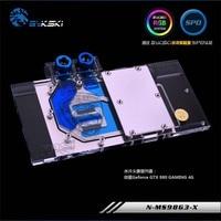 Bykski GPU Water Block for MSI GTX980 980Ti GAMING 4G Full Cover Graphics Card water cooler