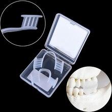 Защита рта предотвращает ночные зубы Зуб Clenching шлифовальный бруксизм шина средство для удаления сна для бокс Баскетбол с футляром