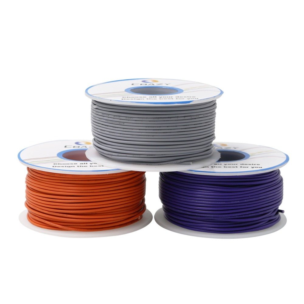 23M Stranded of <font><b>20AWG</b></font> 10 Colors <font><b>UL1007</b></font> Environmental Electronic Wire Conductor To Internal Wiring image