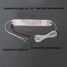 Balastro eletrônico fluorescente do reator para lâmpadas fluorescentes bulbo 20-40 w 220 v/ac para o farol de t8 novo