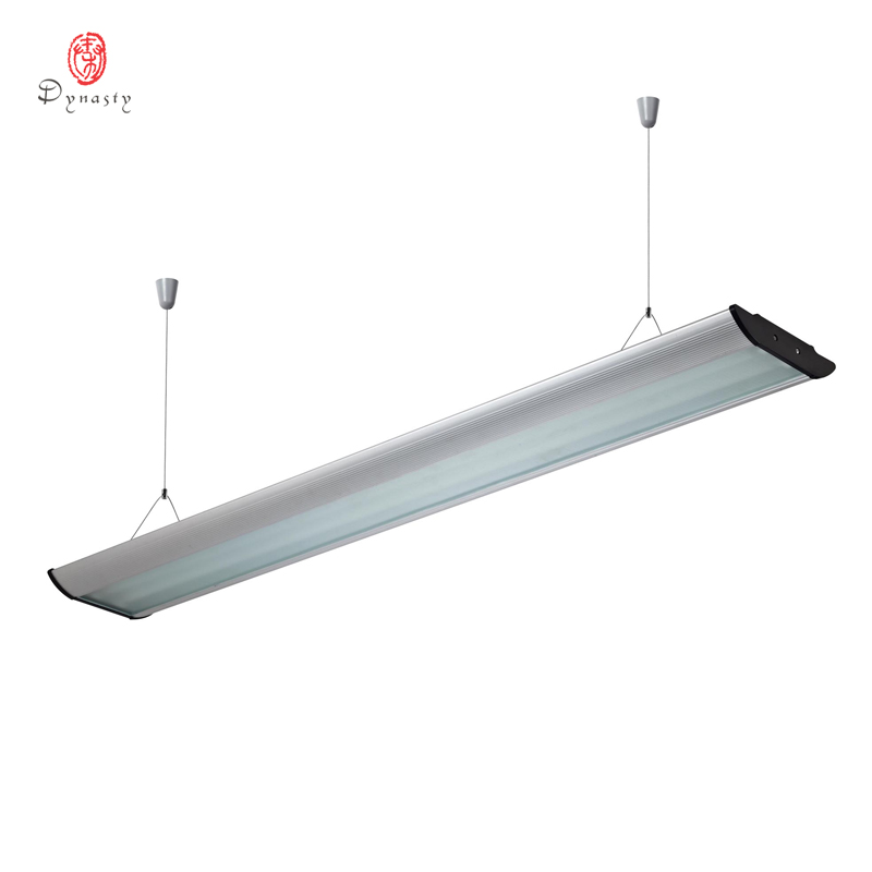 LED Long aluminium suspendus lumières Rectangle moderne réflecteur T5 Tube lumière bureau Fitness bibliothèque lumineuse décoration éclairage