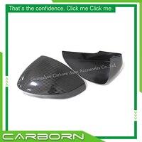 Capa de espelho de fibra de carbono para jaguar f-type 2013 2014 2015 2016 2017-up gloss black adicionar estilo