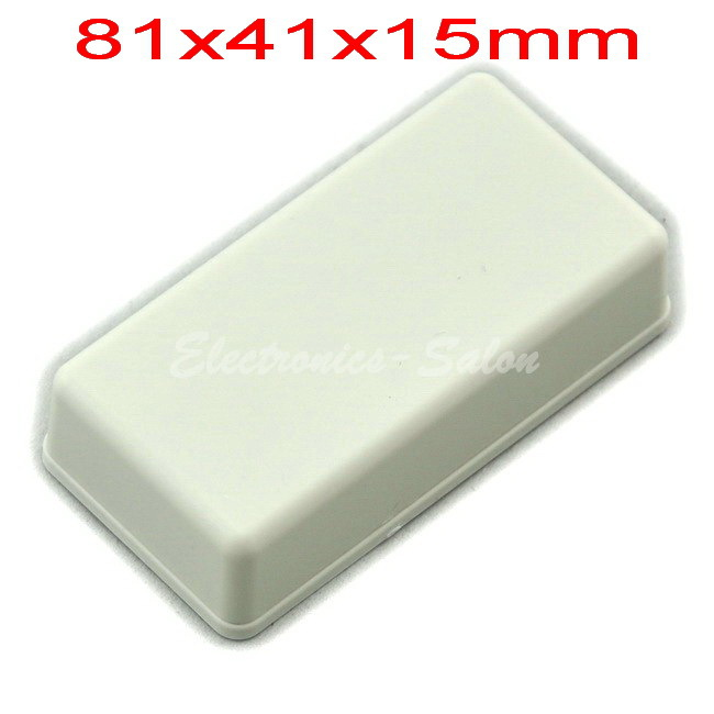 Small Desk-top Plastic Enclosure Box Case,White, 81x41x15mm,  HIGH QUALITY.