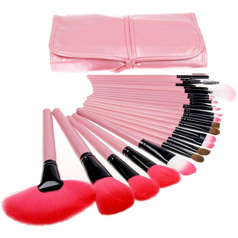 Top Quality 24pcs Wood Makeup Brushes Set Tools Make Up Cosmetics Professional Brush Hair Kit Eyeshadow Foundation Makeup Brush