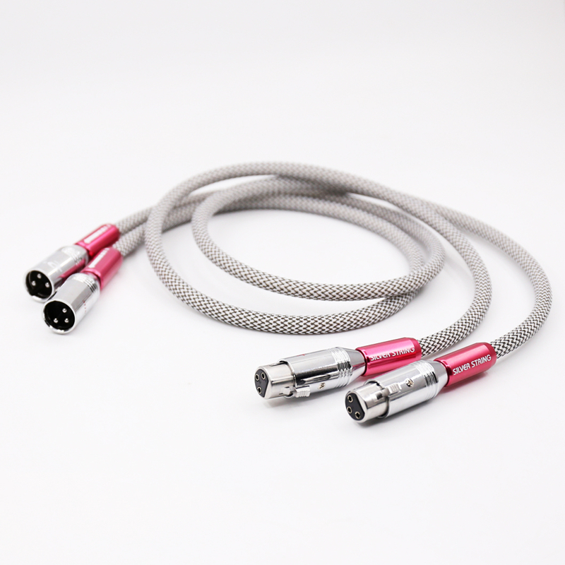 Pair Hifi audio silver plated XLR Cable Microphone Audio Sound Cannon Cable XLR Male to Female Extension Aux Cable hifi silver plated audio cable 2 rca male to 2 xlr hifi plug 3 pin male audiophile