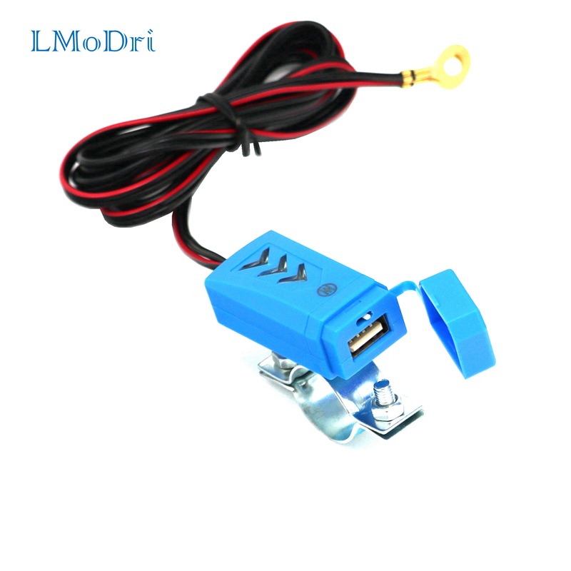 LMoDri New Motorcycle Waterproof USB Charger Motorbike Phone Charging Electric Bicycle Power Supply With Switch 5V in Cables Adapters Sockets from Automobiles Motorcycles