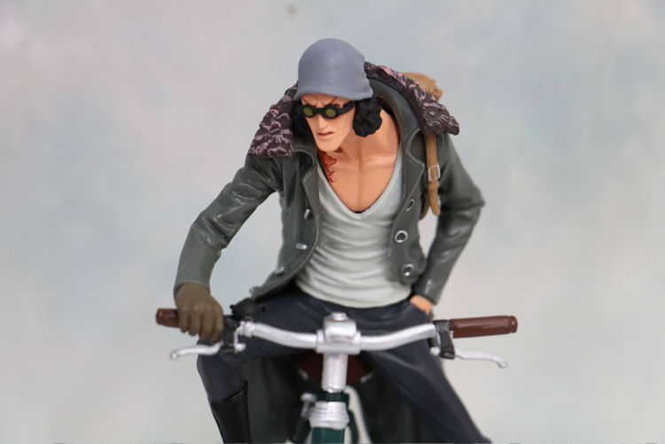 One Piece anime PVC Action Figure about 15cm riding bike kohza ao kuji Kits Collection Model Toy birthday gift w1787
