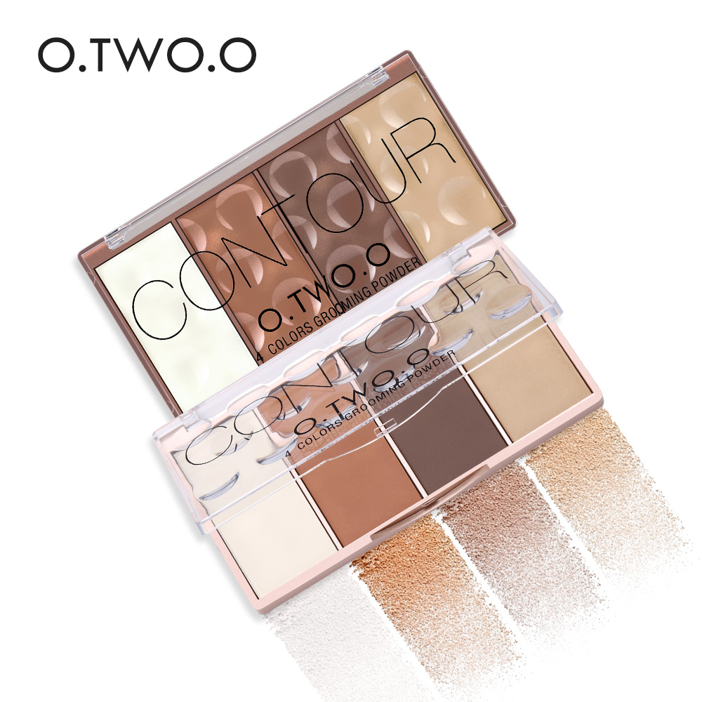 O.TWO.O 4 Warna Palette Concealer Wajah Makeup Basis Contouring Palette Foundation Concealer Powder