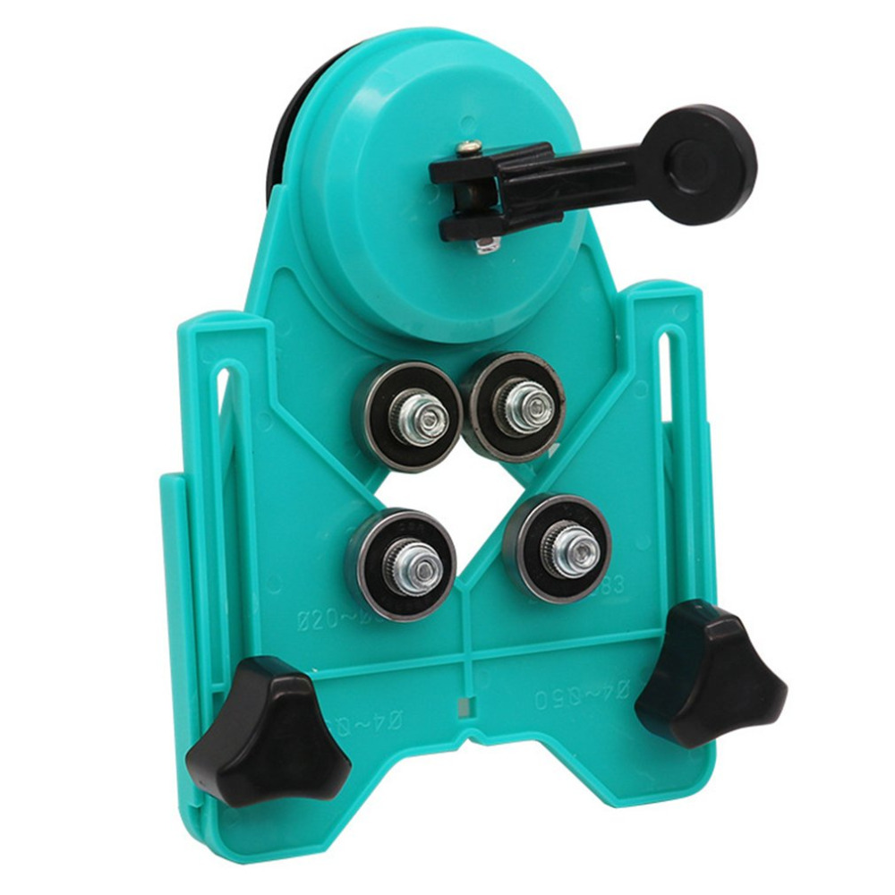 Adjustable 4-80mm Ceramic Porcelain Drill Bit Cutter Tile Glass Openings Locator Hole Saw Core Guide With Vacuum Base Sucker new 50mm concrete cement wall hole saw set with drill bit 200mm rod wrench for power tool