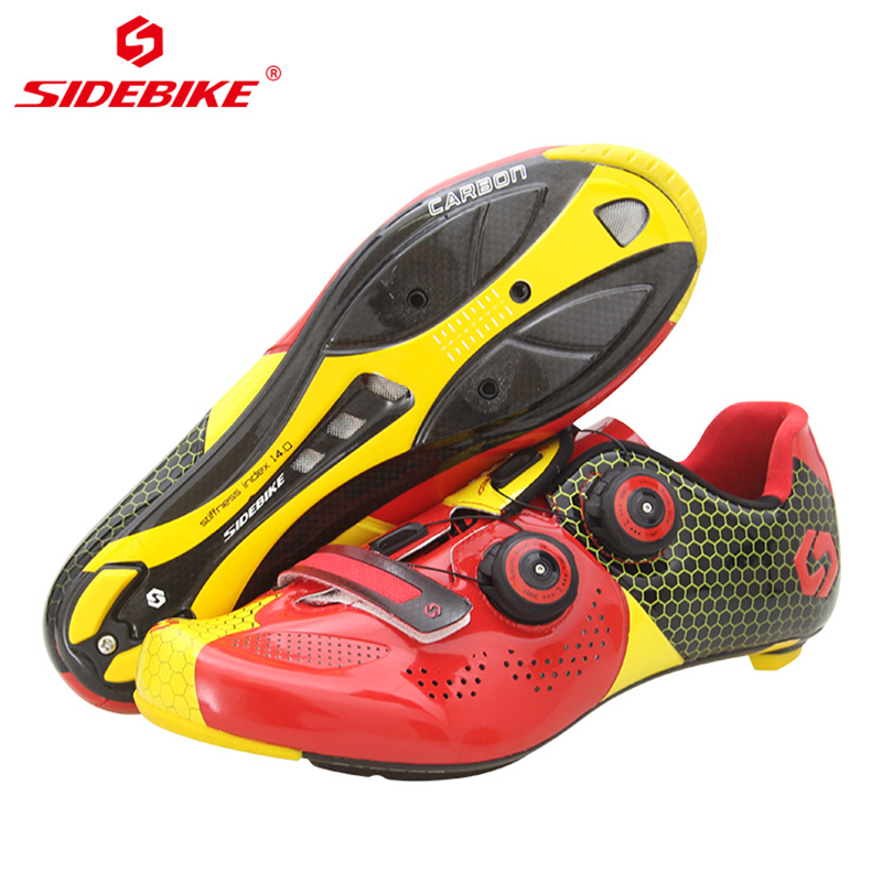 Sidebike Men Women Carbon Cycling Shoes Road Mountain Bike Shoes Ultralight Breathable Bicycle MTB Sneakers with