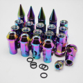 20Pcs color Aluminum Extended Tuner Car Styling Wheel Lug Nuts Bolts Rims Dust Cap Screw With Spike For Wheels Rims M12X1.5