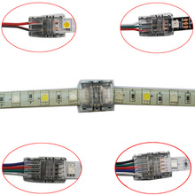 цена на 5pcs/lot 2pin 3pin 4pin 5pin LED Strip Connector for 3528 5050 led Strip to Wire/Strip Connection Use Terminals