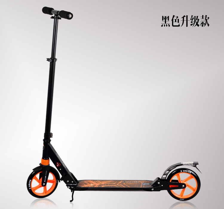 Adult big wheel scooter folding aluminum scooter with for Big wheel motor scooter