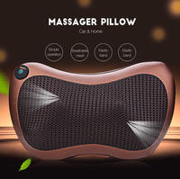 TJK Multifunction Simple Operation Infrared Heating Automobiles Massager Pillow Built In Four Heating Kneading Massage Heads