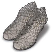 Elegant Women Summer Shoes No Slip Flat Bottomed Crocs Summer Hollowed Bird Nest Sandals Sparkling Crystal