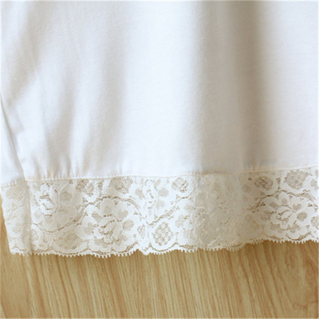 2017 New White Black Slip Women Modal Solid Half Slips With Lace Plus Size Elastic One Size #K19