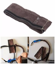 MIG Torch Sleeve Welding Gun Cable Cover 10cm x 3.5m (4in x 11.5ft) Top Split Cowhide Leather CE TIG/MIG/Plasma Cable Sleeves