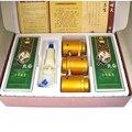 Tanque de vácuo cupping and caixa de moxabustão instrumento portátil com ai fumado vurner latas cupping moxabustão + 20 pcs moxa absinto