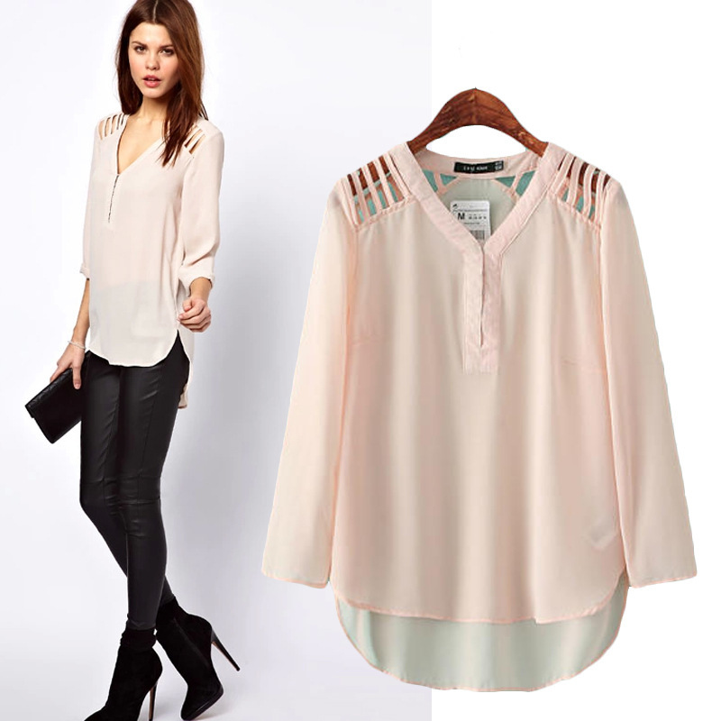 Images of Chiffon Blouses For Women - Reikian
