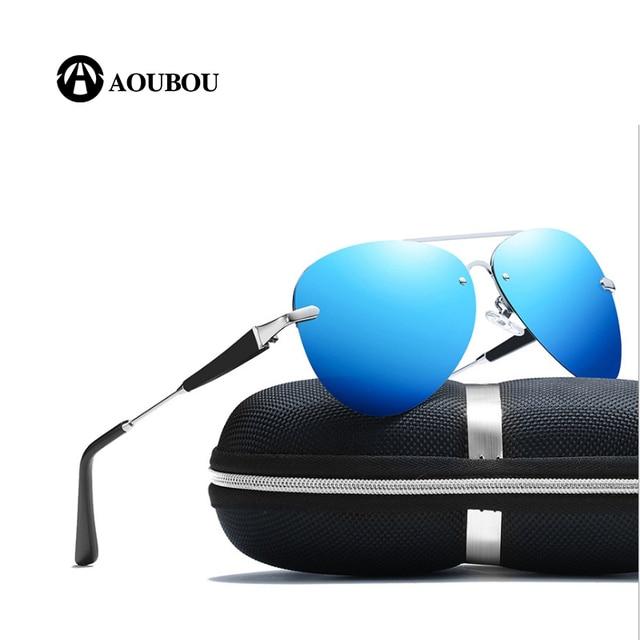 Óculos de sol dos homens polarizados Frameless Cor coating oculos aviador  quadrado influência óculos óculos de sol sem aro moda mujer 2019 hippieR   67,03 33374d9ca1