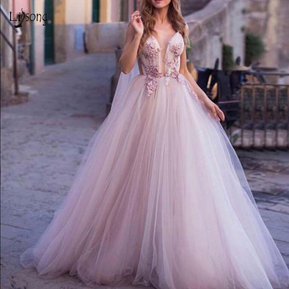 Romantic Floral Lavender Evening Dresses 2019 With Long Tulle Cloak Ribbon Lave Prom Gowns Backless Party