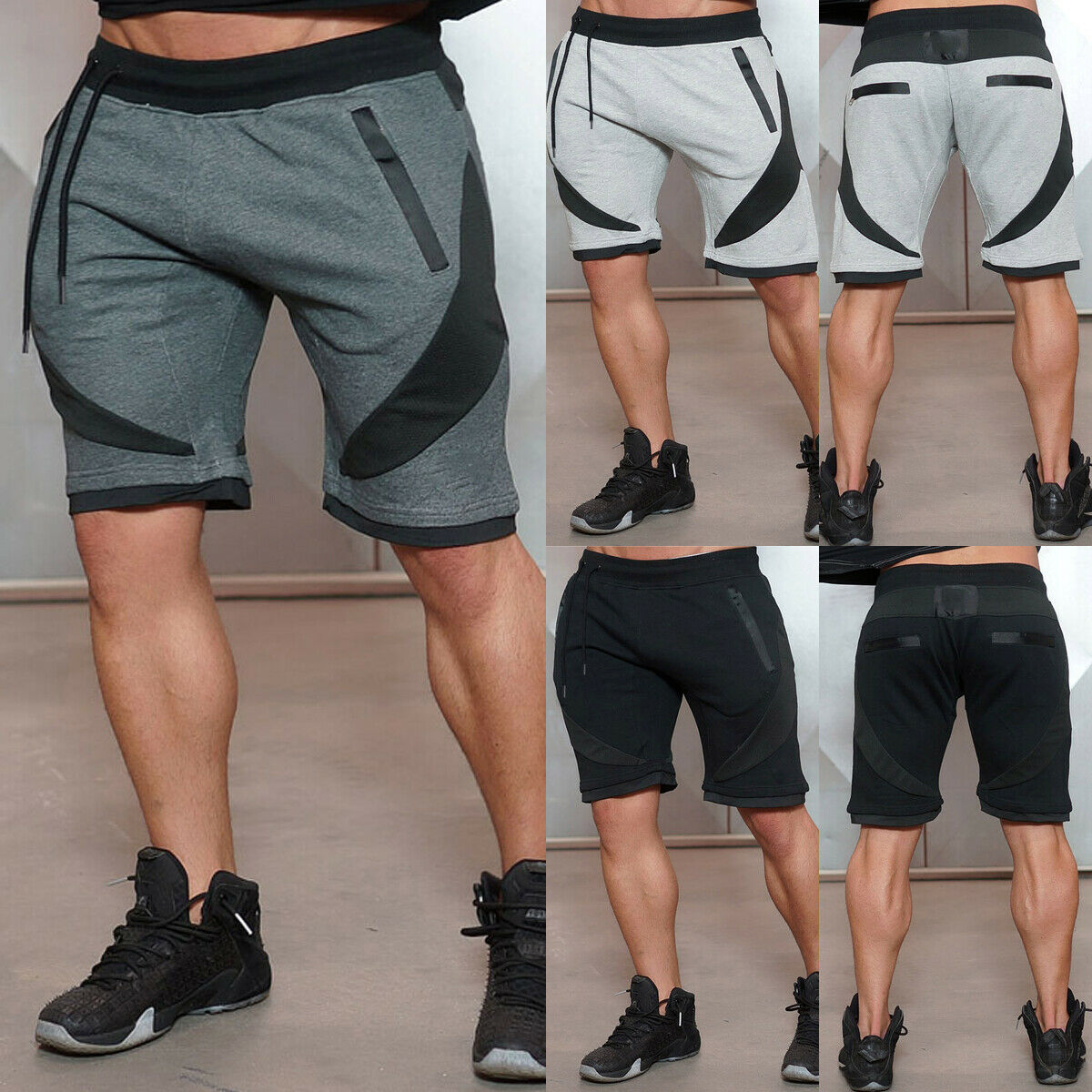 Men's Cotton Short Pants Jogger Fitness Slim Fast Dry Fit Track Pants Men Summer Home Wear Shorts Casual Knee Length Short Pants