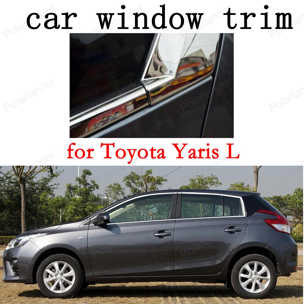 Car Exterior Accessories Window Trim for Toyota Yaris L Stainless Steel Decoration Strips 1pcs kitchen water filter faucet healthy ceramic cartridge tap household activated carbon faucet mineral clear filter for water